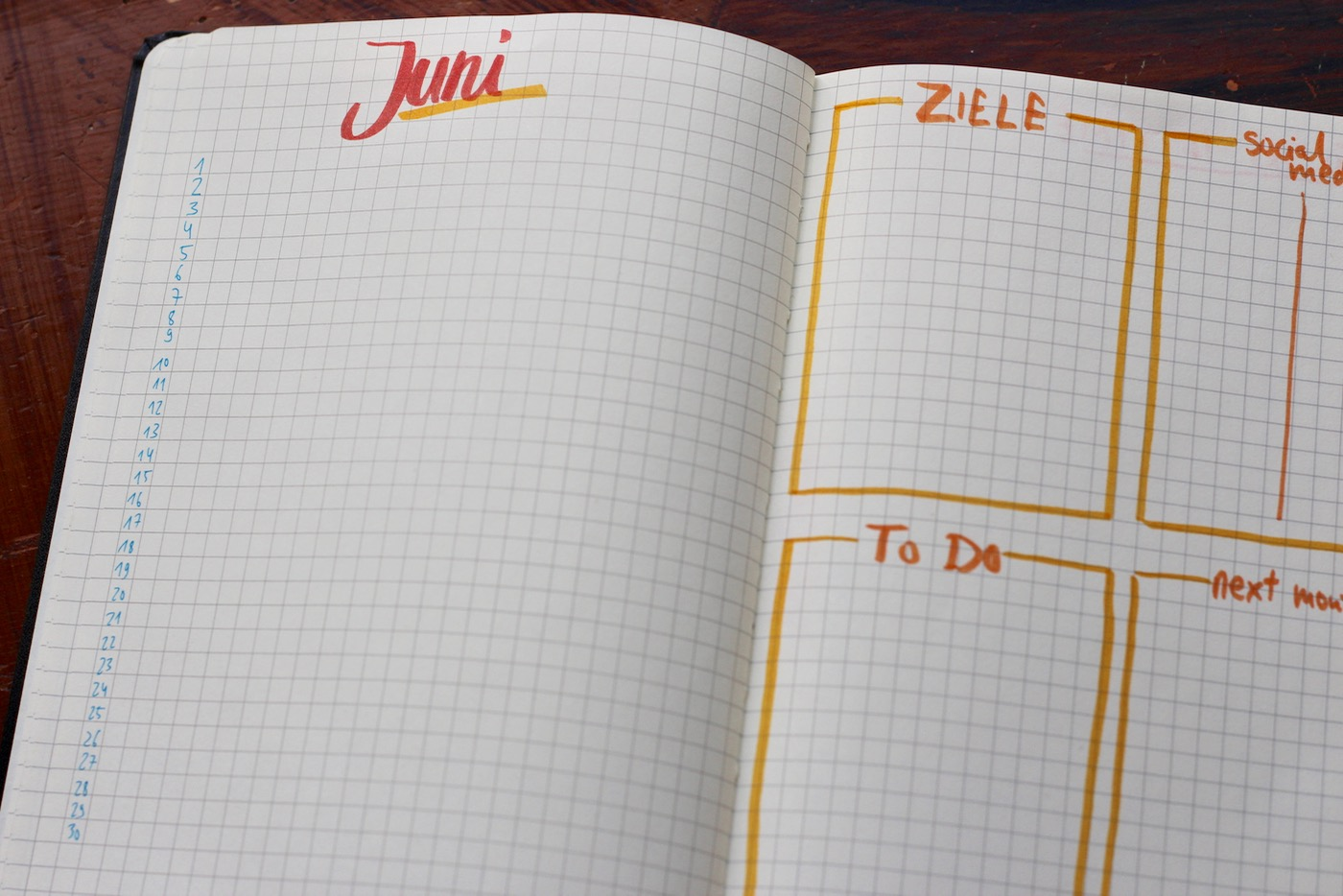 Mein Bullet Journal
